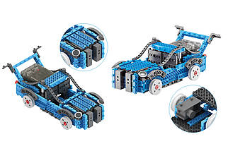 Конструктор STEM электронный HIQ B722 2-в-1 150 деталей сенсорный (машинка, поезд), фото 3