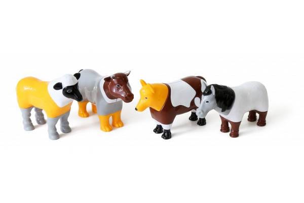 Пазл 3D детский магнитные животные POPULAR Playthings Mix or Match (корова, лошадь, овца, собака), фото 2