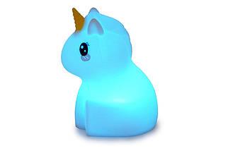 """Детский ночник-игрушка Click """"Hічні звірятка"""" Единорог 12 см, фото 2"""