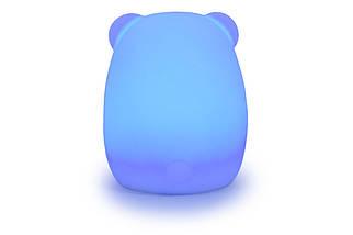 """Детский ночник-игрушка Click """"Hічні звірятка"""" Медведь 11 см, фото 2"""