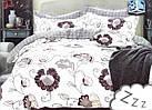 Комплект постельного белья Микроволокно HXDD-804 M&M 8479 Белый, Кремовый, фото 2