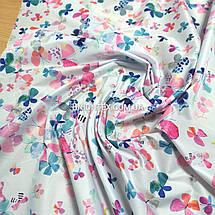 Плащевая ткань лаке принт бабочки, фото 2