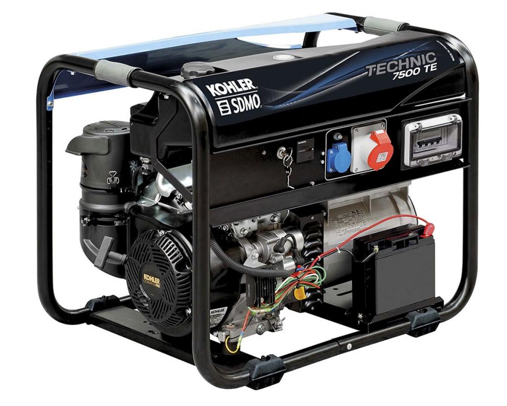 Трехфазный бензиновый генератор SDMO TECHNIC 7500 TE (6.5 кВт)
