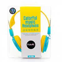 Наушники с микрофоном Havit HV-H2198D желто-голубые, фото 1