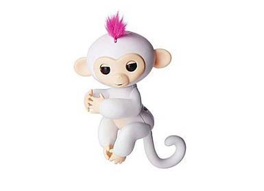 Ручная обезьянка на бат. Happy Monkey интерактивная (белый)