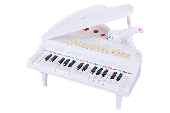 """Детское пианино синтезатор Baoli """"Маленький музикант"""" с микрофоном 31 клавиша (белый), фото 2"""