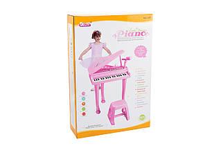 """Детское пианино синтезатор Baoli """"Маленький музикант"""" с микрофоном и стульчиком 37 клавиш (розовый), фото 3"""