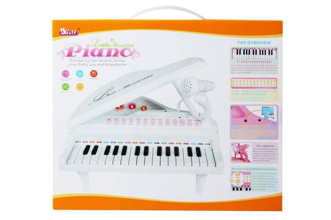 """Детское пианино синтезатор Baoli """"Маленький музикант"""" с микрофоном 31 клавиша (розовый), фото 2"""