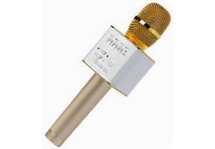 Микрофон для караоке Q9 (золотой), фото 2