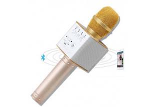 Микрофон для караоке Q9 (золотой), фото 3