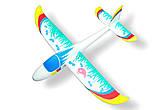 Планер метательный J-Color Hawk 600мм c комплектом красок, фото 7
