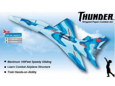 Самолёт (истребитель) метательный ZT Model Thunder, фото 2