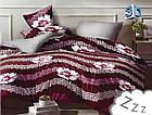 Комплект постельного белья Микроволокно HXDD-827 M&M 8080 Красный, Белый, фото 2
