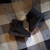 Замшеві уггі UGG дитячі теплі черевички уггі дитячі чобітки чорні 32, 33, розмір