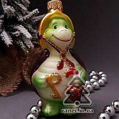 Стеклянная елочная игрушка Черепаха Тортила 263/с-а