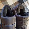 Короткі уггі як тапочки автоледі сліпони хутряні низькі дутики не промокающие зимові теплі чорні сірі, фото 4