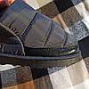 Короткі уггі як тапочки автоледі сліпони хутряні низькі дутики не промокающие зимові теплі чорні сірі, фото 5