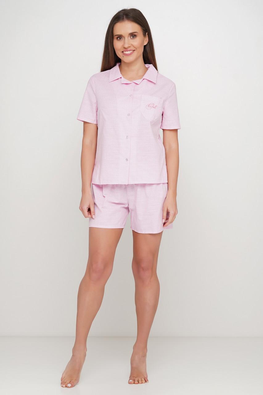 Хлопковая пижама шорты рубашка