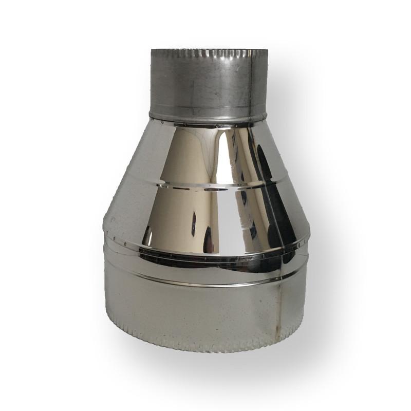 Зворотний конус ø 160/220 нерж/нерж 0,6 мм - Фабрика ZIG