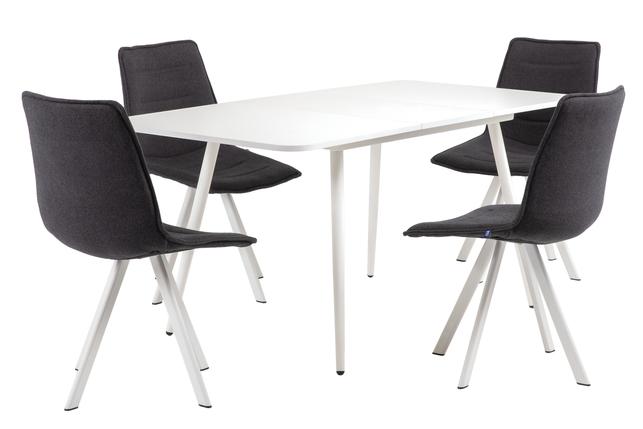 Стол раздвижной Casey 120/160*80 см белый/белый, фото 2