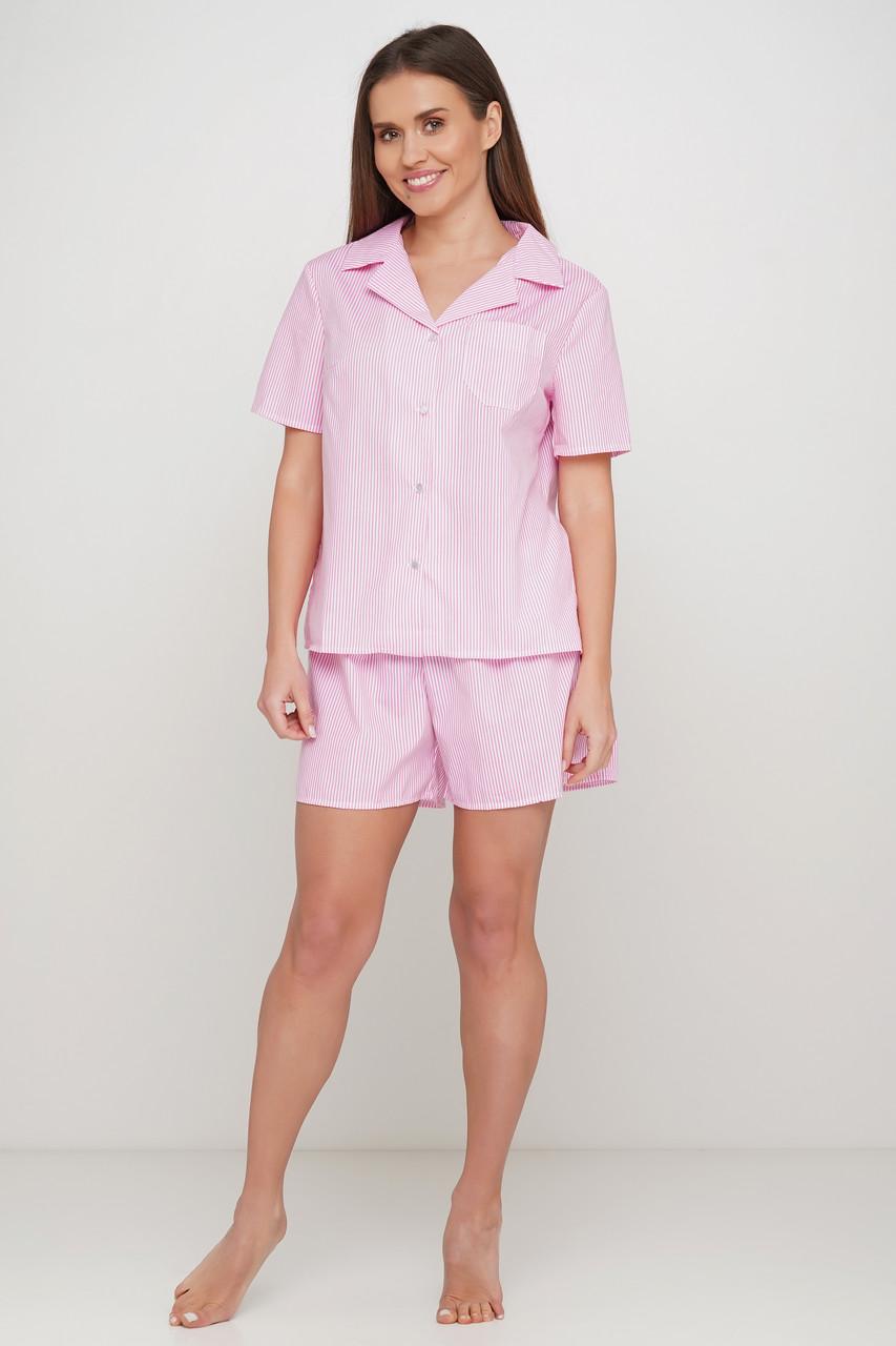 Женская пижама шорты рубашка