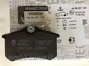 Renault ORIGINAL 440605713R / Комплект задних тормозных колодок Рено Меган 4 (с механическим ручником)