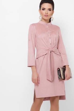 Сукня замшеве офісне розміри: s,m,l,xl, фото 2