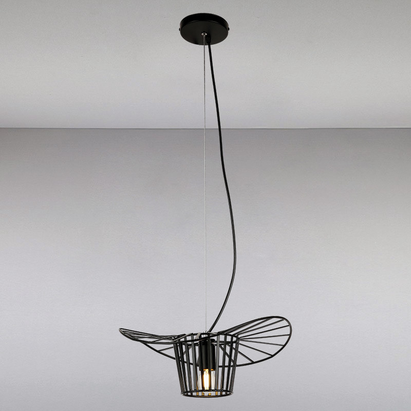 Люстра подвесная на одну  лампу LS-814595-1 BK  черная