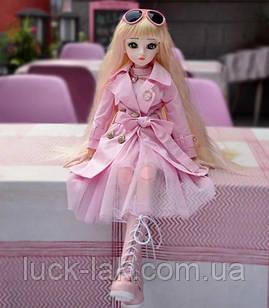 Шарнірна лялька bjd автора Мілена ріст 60 см, 1/3, блондинка + одяг та взуття
