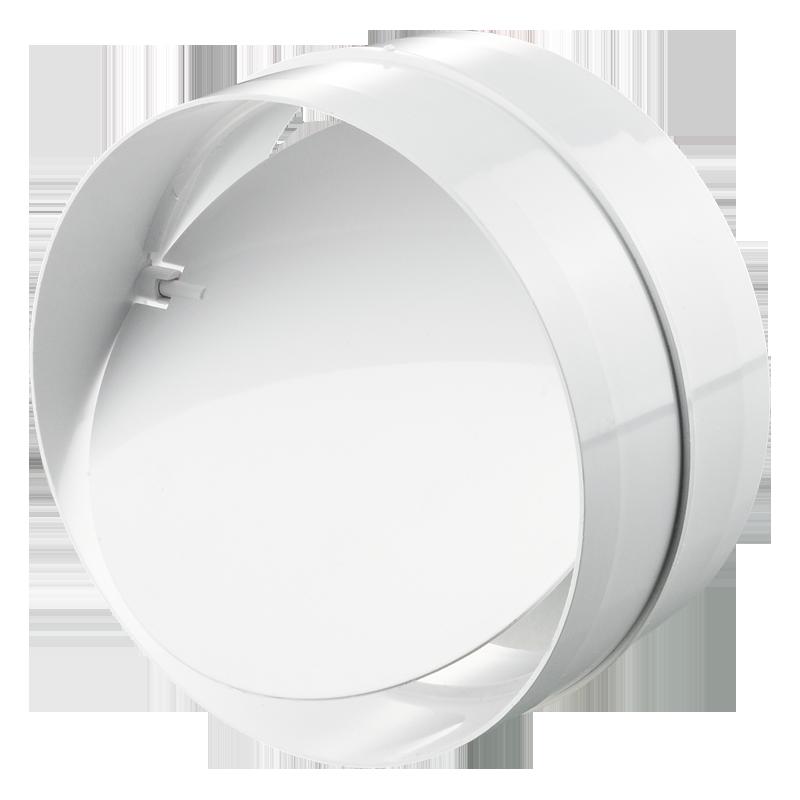 Соединитель с обратным клапаном для круглых каналов d100
