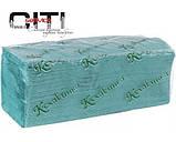 Бумажное Полотенце (Кохавинка), Z-сложение Зеленое V-V 170, фото 2