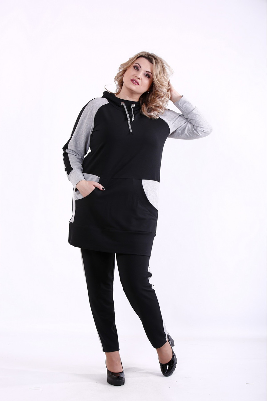 01380-2   Черный спортивный костюм 01380-2