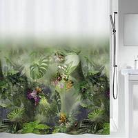 Шторка д/ванної polyester JUNGLE 180x200 зелена_10.20157