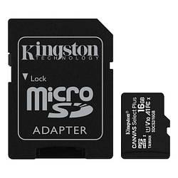 Картка пам'яті MicroSDHC 16Gb class 10 (SD адаптер) Kingston Canvas Select Plus SDCS2/16GB