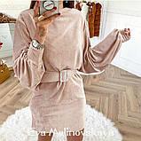 Женское  модное платье из вельвета,размеры:42-44,46-48., фото 4