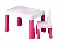 Детский столик со стульчиком Tega Baby Mamut Multifun розовый MF-001-123, фото 1