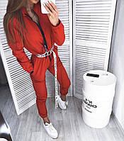 Женский комбинезон двухнитка чёрный красный желтый шоколад S-M M-L