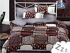 Комплект постельного белья Микроволокно HXDD-818 M&M 8103 Серый, Коричневый, фото 2