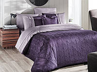 Постільна білизна First Сһоісе Vip Satin London Mor 220-200 см фіолетовий, фото 1