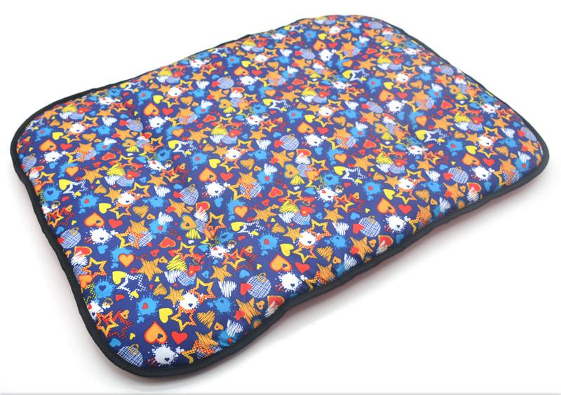 Матрас коврик для собак и котов Лежебока №2 50х70 см синий + красный