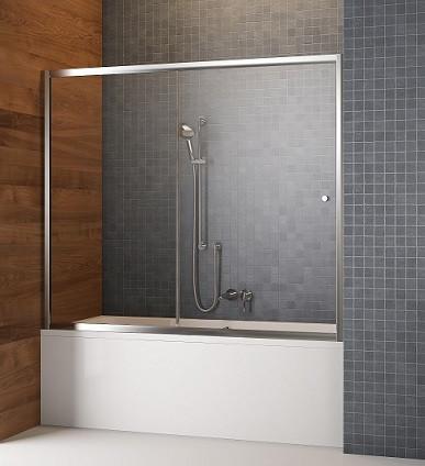 Штора для ванны раздвижная Radaway Vesta DWJ хром раздвижная двухэлементная