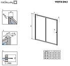 Штора для ванны раздвижная Radaway Vesta DWJ хром раздвижная двухэлементная, фото 5