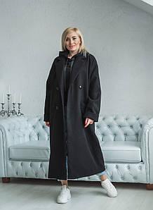 Пальто миди OVERSIZE черное