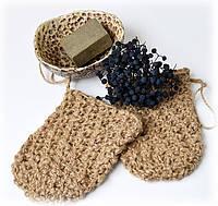 Натуральная мочалка-мешок из льна