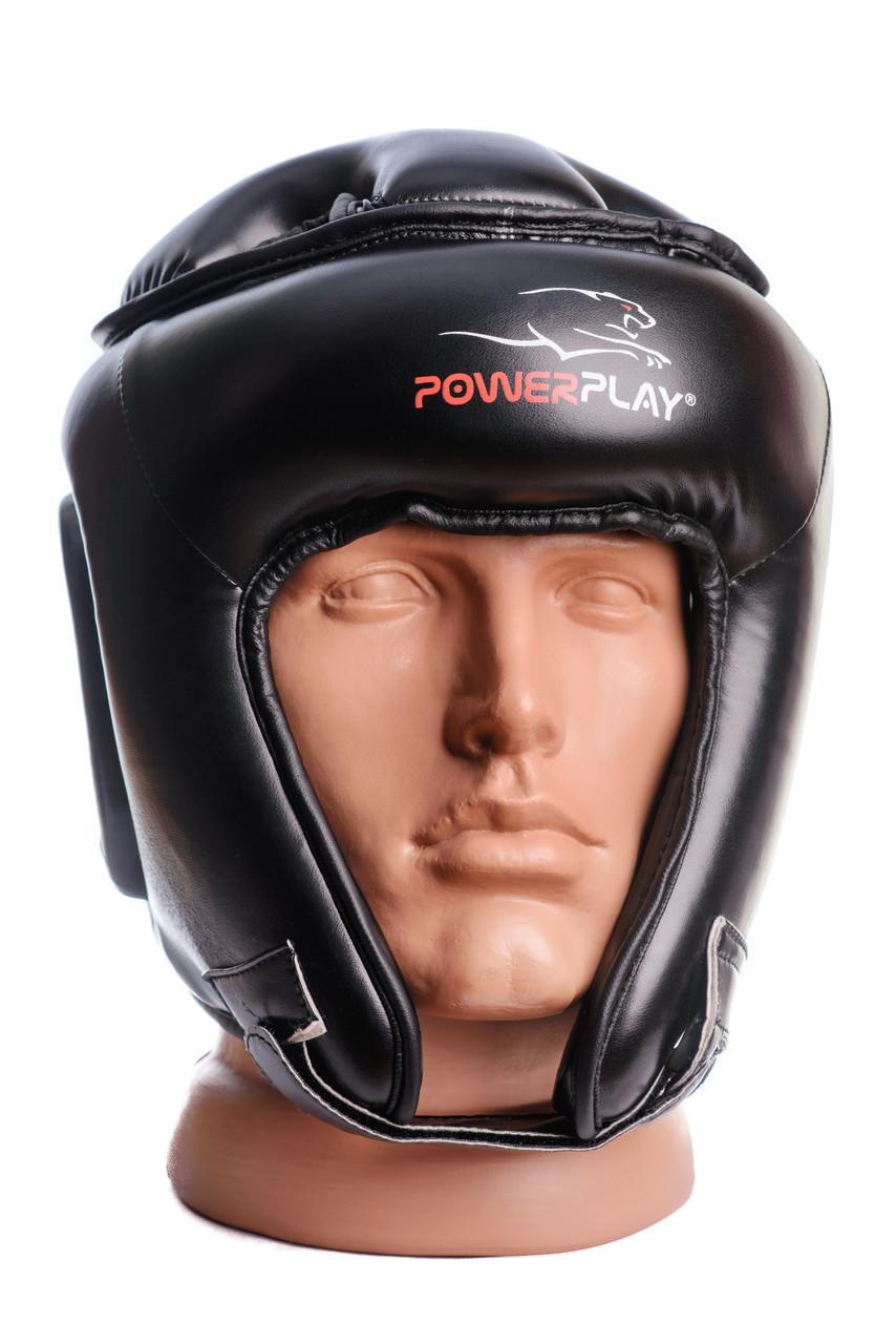 Боксерський шолом турнірний PowerPlay 3045 Чорний XL