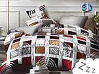 Комплект постельного белья Микроволокно HXDD-828 M&M 8202 Серый, Коричневый, Бежевый, фото 2
