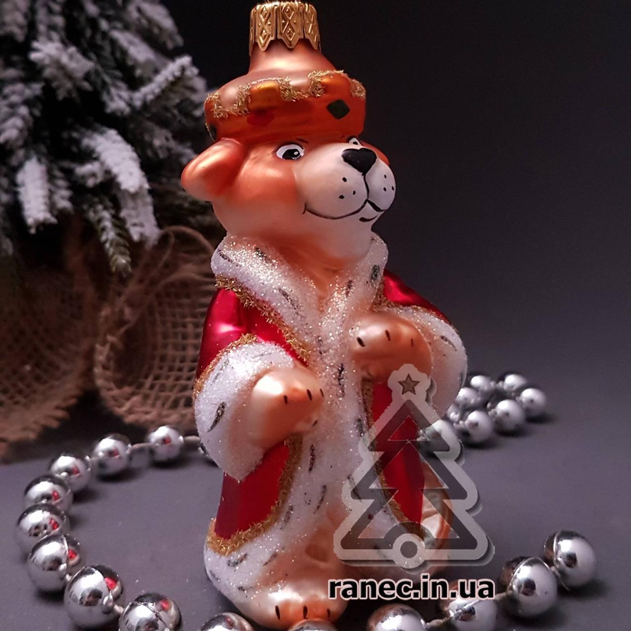 Стеклянная елочная игрушка Король Лев 376/с