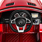 Детский электромобиль Mercedes Benz M 4146EBLRS-3 красный автопокраска, фото 7
