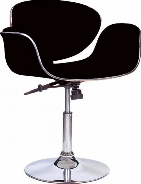 Кресло Студио, кожзам, хромированное, регулируемое, цвет белый