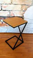 Приставной кофейный журнальный столик 40х40 см Loft (Лофт), фото 1